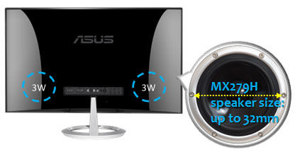 Asus MX279H Speakers