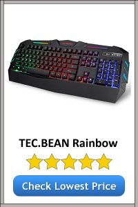 TEC.BEAN Rainbow Gaming Keyboard
