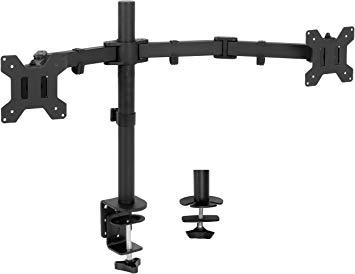 VIVO Full Motion Dual Monitor Desk Mount